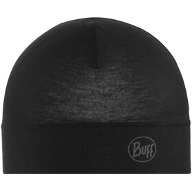 Buff Microfiber 1 Layer Hat Solid Black